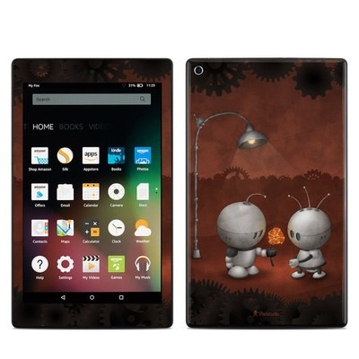 Amazon Kindle Fire HD8 2015 Skin - Robots In Love