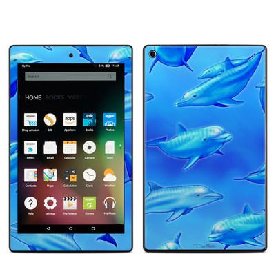 Amazon Kindle Fire HD8 2015 Skin - Swimming Dolphins