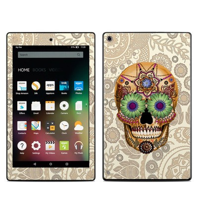 Amazon Kindle Fire HD8 2015 Skin - Sugar Skull Bone