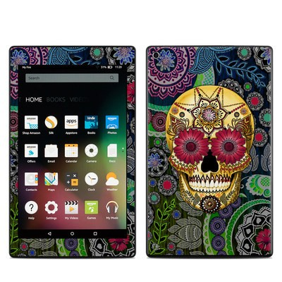 Amazon Kindle Fire HD8 2015 Skin - Sugar Skull Paisley