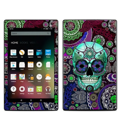 Amazon Kindle Fire HD8 2015 Skin - Sugar Skull Sombrero