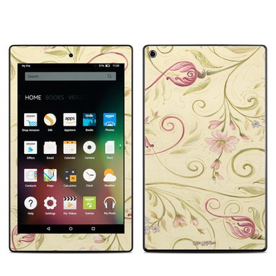 Amazon Kindle Fire HD8 2015 Skin - Tulip Scroll