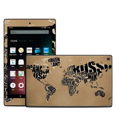 Amazon Kindle Fire HD8 2015 Skin - Type Map