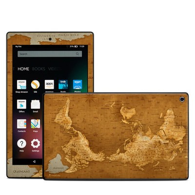 Amazon Kindle Fire HD8 2015 Skin - Upside Down Map
