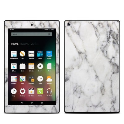 Amazon Kindle Fire HD8 2015 Skin - White Marble