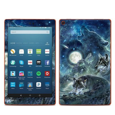 Amazon Kindle Fire HD8 2016 Skin - Bark At The Moon