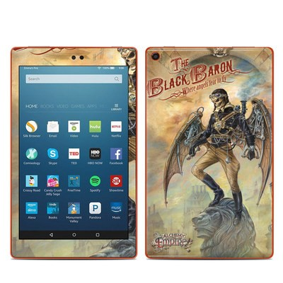 Amazon Kindle Fire HD8 2016 Skin - The Black Baron