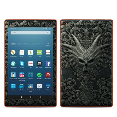 Amazon Kindle Fire HD8 2016 Skin - Black Book