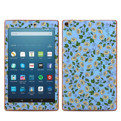 Amazon Kindle Fire HD8 2016 Skin - Blue Daisy
