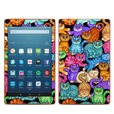 Amazon Kindle Fire HD8 2016 Skin - Colorful Kittens