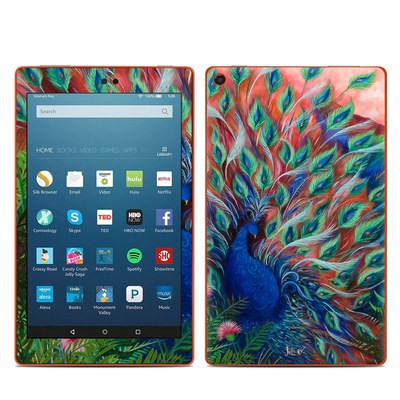 Amazon Kindle Fire HD8 2016 Skin - Coral Peacock