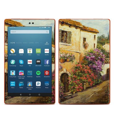 Amazon Kindle Fire HD8 2016 Skin - Via Del Fiori
