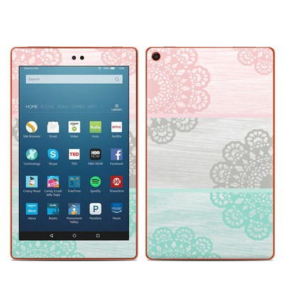 Amazon Kindle Fire HD8 2016 Skin - Doily