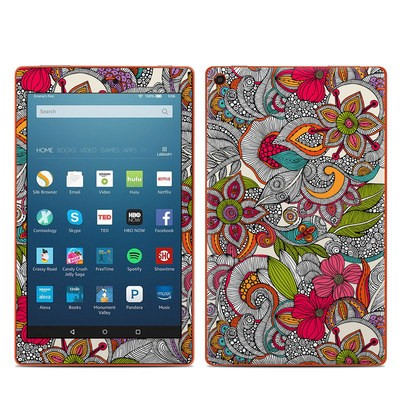 Amazon Kindle Fire HD8 2016 Skin - Doodles Color