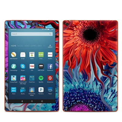 Amazon Kindle Fire HD8 2016 Skin - Deep Water Daisy Dance