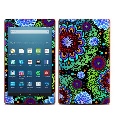 Amazon Kindle Fire HD8 2016 Skin - Funky Floratopia