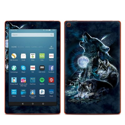 Amazon Kindle Fire HD8 2016 Skin - Howling