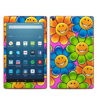 Amazon Kindle Fire HD8 2016 Skin - Happy Daisies