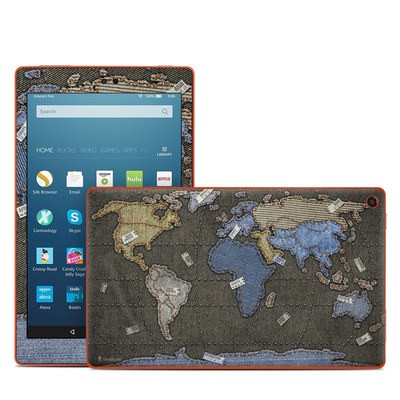 Amazon Kindle Fire HD8 2016 Skin - Jean Map
