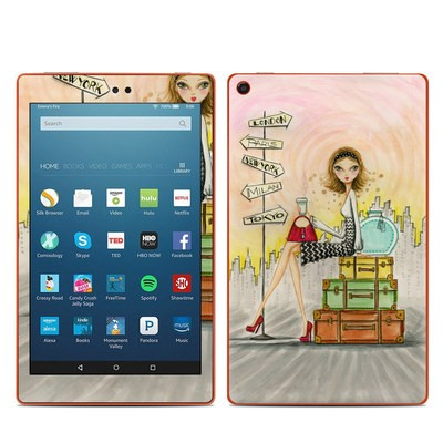 Amazon Kindle Fire HD8 2016 Skin - The Jet Setter