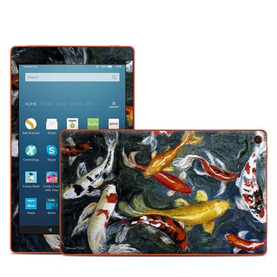 Amazon Kindle Fire HD8 2016 Skin - Koi's Happiness