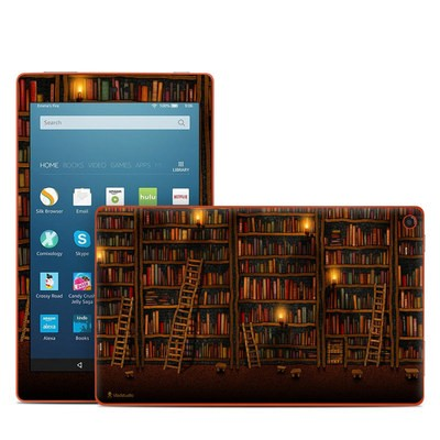 Amazon Kindle Fire HD8 2016 Skin - Library