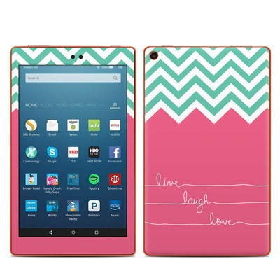 Amazon Kindle Fire HD8 2016 Skin - Live Laugh Love