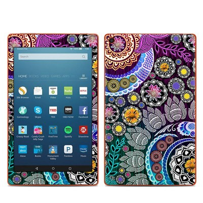 Amazon Kindle Fire HD8 2016 Skin - Mehndi Garden