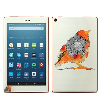 Amazon Kindle Fire HD8 2016 Skin - Orange Bird