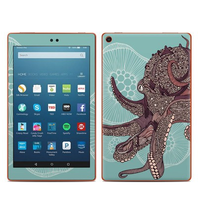 Amazon Kindle Fire HD8 2016 Skin - Octopus Bloom
