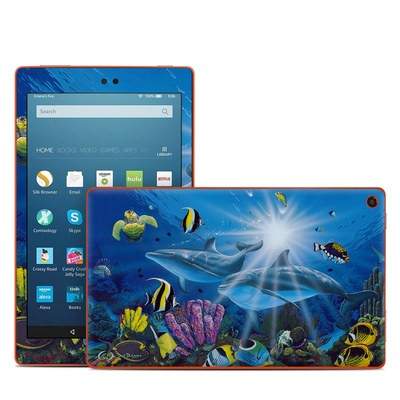 Amazon Kindle Fire HD8 2016 Skin - Ocean Friends