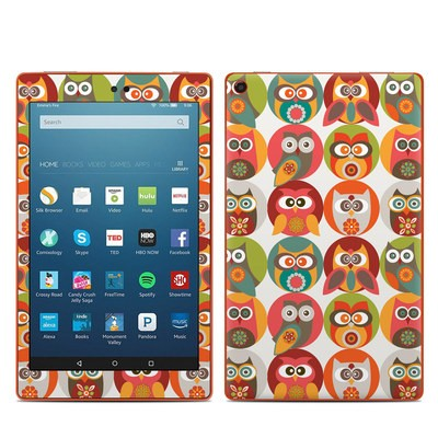 Amazon Kindle Fire HD8 2016 Skin - Owls Family