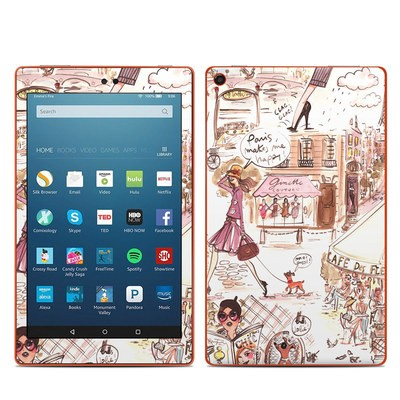 Amazon Kindle Fire HD8 2016 Skin - Paris Makes Me Happy