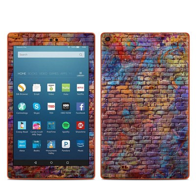 Amazon Kindle Fire HD8 2016 Skin - Painted Brick