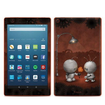 Amazon Kindle Fire HD8 2016 Skin - Robots In Love
