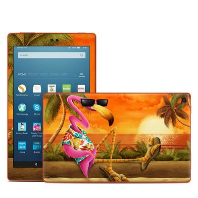Amazon Kindle Fire HD8 2016 Skin - Sunset Flamingo