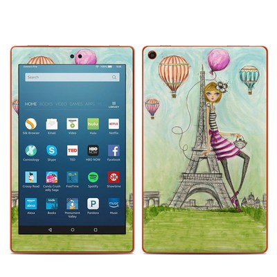 Amazon Kindle Fire HD8 2016 Skin - The Sights Paris
