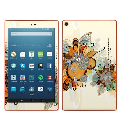 Amazon Kindle Fire HD8 2016 Skin - Sunset Flowers