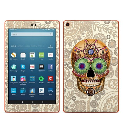 Amazon Kindle Fire HD8 2016 Skin - Sugar Skull Bone