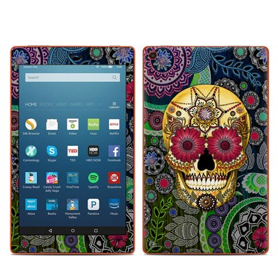 Amazon Kindle Fire HD8 2016 Skin - Sugar Skull Paisley
