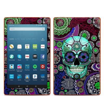 Amazon Kindle Fire HD8 2016 Skin - Sugar Skull Sombrero