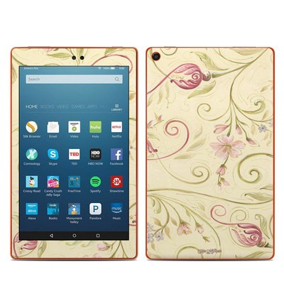 Amazon Kindle Fire HD8 2016 Skin - Tulip Scroll