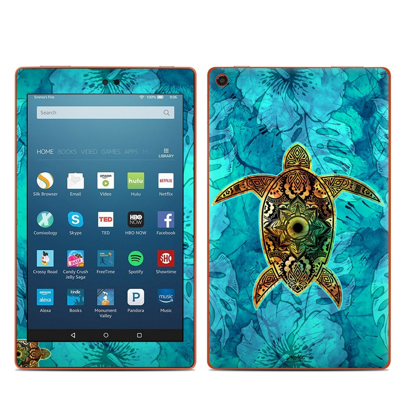 Amazon Kindle Fire HD8 2016 Skin - Sacred Honu by Al ...