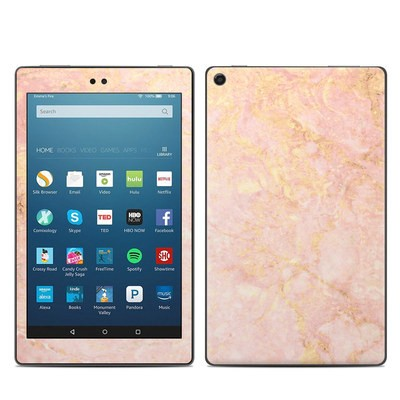 Amazon Kindle Fire HD8 2017 Skin - Rose Gold Marble