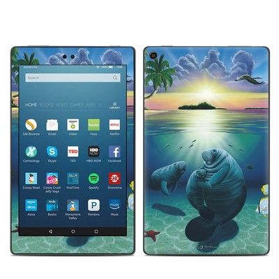 Amazon Kindle Fire HD8 2017 Skin - Underwater Embrace