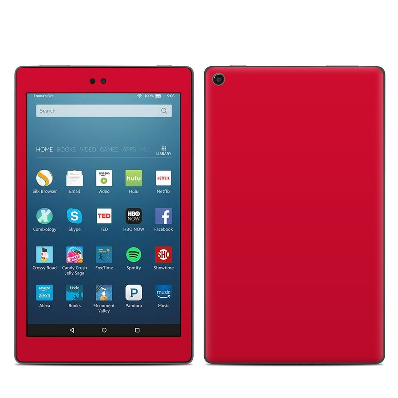 Amazon Kindle Fire Hd8 2017 Skin Solid State Red By