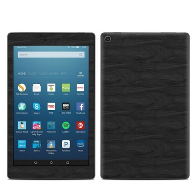Amazon Kindle Fire HD8 2018 Skin - Black Woodgrain