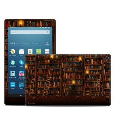 Amazon Kindle Fire HD8 2018 Skin - Library