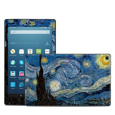 Amazon Kindle Fire HD8 2018 Skin - Starry Night
