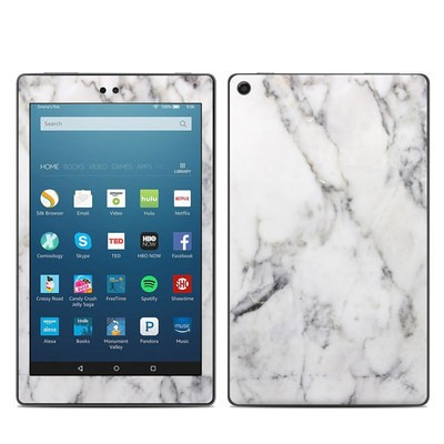 Amazon Kindle Fire HD8 2018 Skin - White Marble